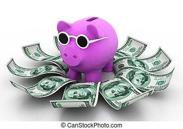 argent, tirelire