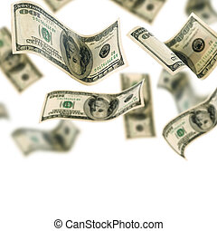 argent, tomber