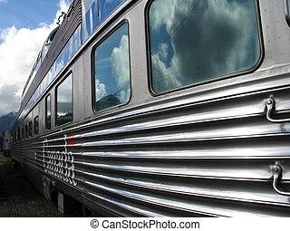 argent, train passager