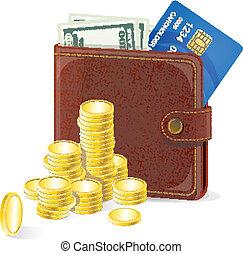 argent, vecteur, bourse