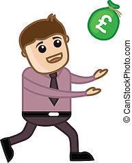 argent, vecteur, -, illustration, venir
