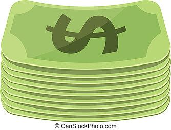argent, vecteur, plat, icône