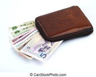argent, ventilateur, portefeuille