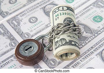 argent, verrouillé