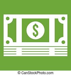 argent, vert, pile, icône