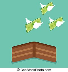 argent, voler, portefeuille