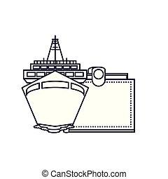 argent, voyage, portefeuille, bateau croisière, bateau