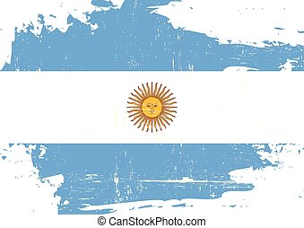 An argentinian flag with a grunge texture