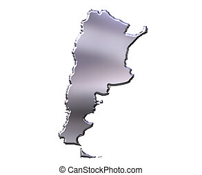 Argentina 3D Silver Map