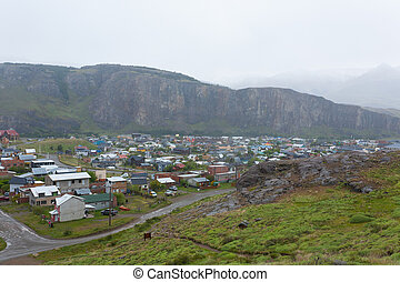 argentina, aldea, el, montaña, chalten, patagonia, vista