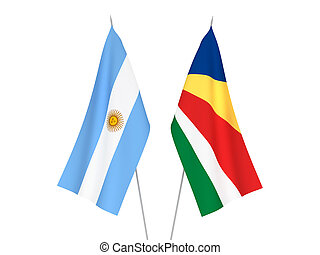 Argentina and Seychelles flags - National fabric flags of ...