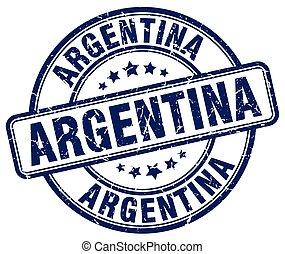 Argentina blue grunge round vintage rubber stamp