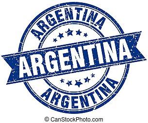 Argentina blue round grunge vintage ribbon stamp