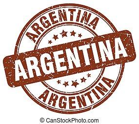 Argentina brown grunge round vintage rubber stamp