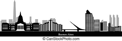 buenos aires skyline - argentina city buenos aires skyline