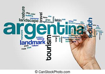 Argentina, concepto, palabra, nube