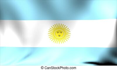 Argentina Flag. Background Seamless Looping Animation.