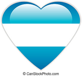 Argentina flag button.