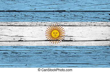 Argentina Flag Grunge Background