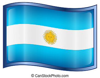 Argentina Flag icon, isolated on white background