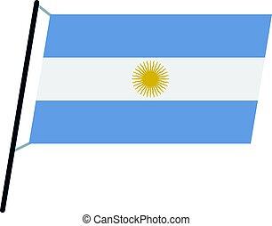 Argentina flag icon isolated
