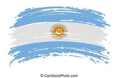 Argentina flag in grunge brush stroke, vector