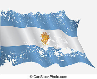 Argentina flag in grunge