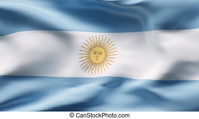 ARGENTINA  flag in slow motion