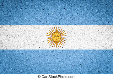 Argentina flag on paper background