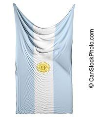 Argentina flag on white background