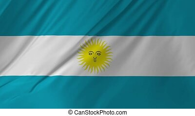 Argentina flag smooth blowing in the wind 2 in 1 - Argentina...
