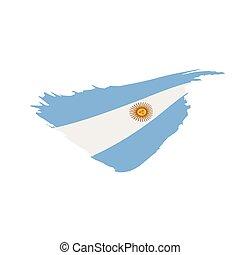 Argentina flag, vector illustration on a white background