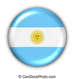 World Flag Button Series - South America - Argentina (With Clipping Path)