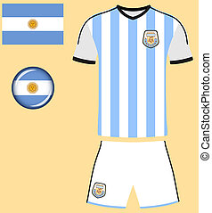Argentina Football Jersey - Abstract vector image of the...