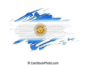 Argentina grunge flag - Abstract grunge watercolor flag of ...