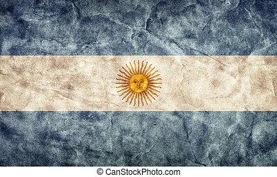 argentina, grunge, flag., item, de, meu, vindima, retro, bandeiras, cobrança