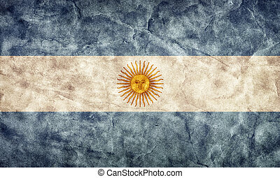 Argentina grunge flag. Item from my vintage, retro flags collection