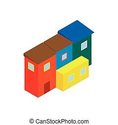 Argentina houses icon, isometric 3d style