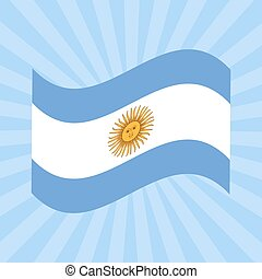 Argentina Independence Day. 9 July. Flag of Argentina. Rays from the center. Event name. Sun of May