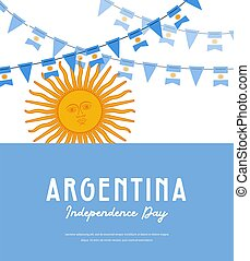 Argentina independence day. Vector banner background with ...