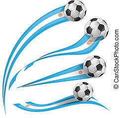argentina lobogó, állhatatos, noha, focilabda