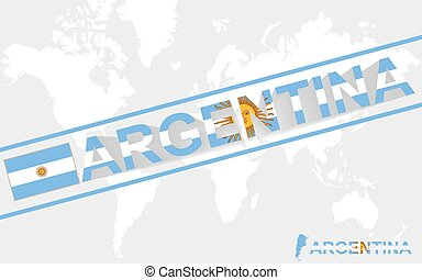 Argentina map flag and text illustration