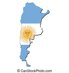Argentina map flag - map of Argentina with their flag ...