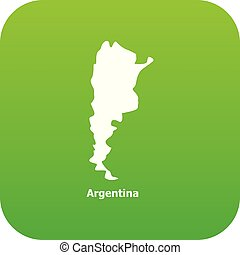 Argentina map icon, simple style