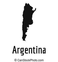 Argentina map in black simple