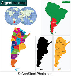 Vector Clip Art Of Argentina Map Highly Detailed Map Of - Argentina political map 1996