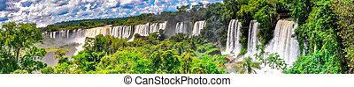 Argentina panoramic falls