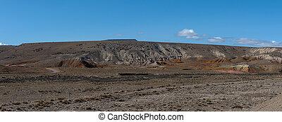 argentina, patagonia, rocoso, paisaje, el, este, desierto, chalten