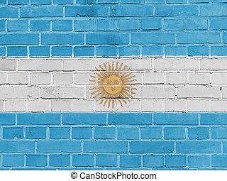 Argentina Politics Concept: Argentine Flag Wall