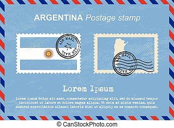 Argentina postage stamp, postage